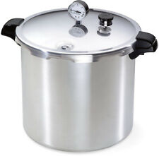 Pressure Canner And Cooker 23-Quart, heavy-gauge aluminum,cover lock