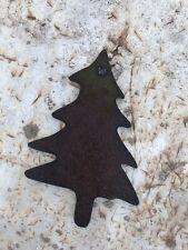 Rustic Metal Christmas Tree Ornament Handmade Antique