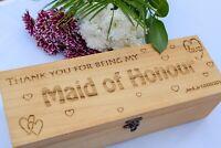 Wedding Wine Bottle Gift Box - Maid of Honour, Best Man, Bridesmaid, Usher