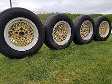 BMW bbs mahle wheels basket weave gold e9 e12 e3 e28 e23 e24 6.5x14 alpina mesh