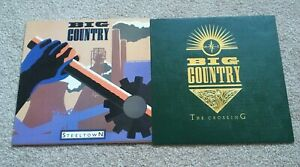 Big Country - Vinyl LP Records x2 - Steeltown - The Crossing - VG