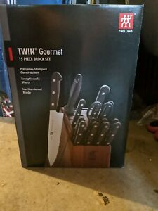 ZWILLING J.A. HENCKELS 35095-001 Twin Gourmet Tradition 15pc Acacia Block Set