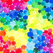 Stoff Jersey Digitaldruck Regenbogen Punkte Tupfen Baumwolle bunt 19€/m