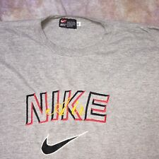 SDJ Vtg Nike blue label made USA gray embroidered t-shirt