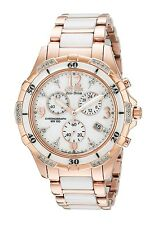 New Citizen Eco-Drive Rose Tone Stainless and Ceramic Women's Watch FB1233-51A