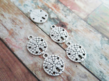 BULK Charms Sand Dollar Charms Silver 50 pieces Wholesale Charms Ocean Charms