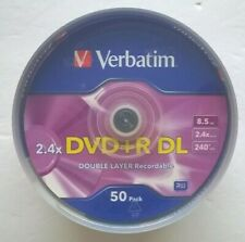 NEW!! 50 Verbatim DVD+R DL AZO 8.5GB 2.4X #96577 Made in Singapore Discontinued