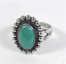 Bell Trading Post - Sterling Silver Green Royston Turquoise Ring - Size 7 3/4