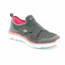Damas Skechers Flex Appeal 2.0 in (approx. 5.08 cm) Carbón y Rosa 12752 CCCL