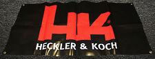 HK Heckler Koch 3' x 5' Vinyl Banner Gun Dealer Mancave Pistol Ammo