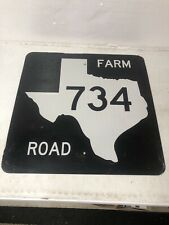 Authentic Retired Texas Farm Road 734 Highway Sign Travis Williamson County
