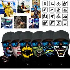 Cráneo Motocicleta Ciclismo Bufanda de cuello media Cara Máscara Bandana Deportes de esquí Diadema