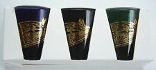 """New 1999 Kentucky Derby 125 Set of 3 Colored Shot Glasses - """"Charismatic"""""""