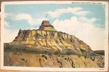 North Dakota Postcard Wedding Cake Butte Western Slope Nd Badlands Country 1937