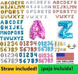 "16"" inch Alphabet Letter Number Foil Balloons Mylar Celebration Birthday Party"