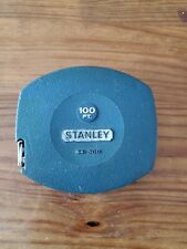 New listing Vintage Stanley Metal Tape Measure Aqua 34-500 Wind Up Case 100Ft Made in Usa