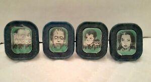1960'S Complete VARI VUE 4 The Munsters Flicker Rings Herman Lily Eddie Grandpa