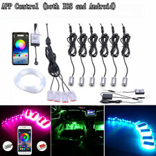 10IN1 8M RGB Car Atmosphere Lamp Door Dash Ambient Light Flash Strips APP