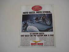 advertising Pubblicità 1985 MOTO GUZZI V 65 C CUSTOM