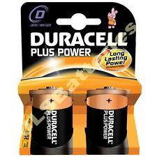 2 x  DURACELL PLUS Size D Batteries LR20 MN1300 Batteries