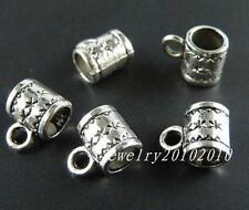 130pcs Tibetan Silver Big Hole Bails 10x8mm 417-1