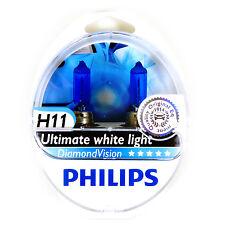 2x PHILIPS Diamond Vision 5000k Headlight Bulb H11 55W - Authentic Germany