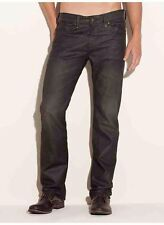 Guess Lincoln Slim Straight Jeans In Solar Wash Mocha Coated Denim Size 28