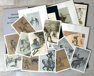 Toulouse-Lautrec, 18 prints from original portfolio of drawings 'At the Circus'