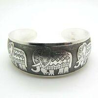 Tibetan Tibet Silver Totem Bangle Cuff elephant Bracelet Cool FG