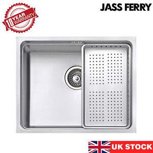 JASSFERRY New Stainless Steel Kitchen Sink Undermount with Rectangular Dish Rack