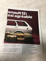 Renault 1971 R12 R4 R6 R8 R10 R16 R12 Gordini catalogue prospectus brochure