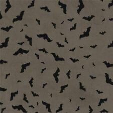SOMETHING WICKED GREY BATS HALLOWEEN FABRIC
