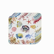 Sea Life Table Mats Set of 4 With Matching Coasters Nautical Beach Kitchen