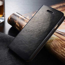 Genuine Real Leather Wallet Card Holder Flip Case Cover for 6 6s Plus Free Glass