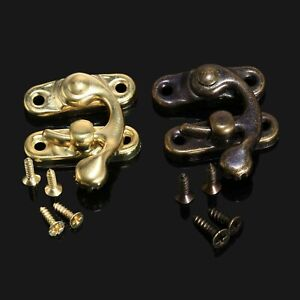 12pcs Antique Latch Horn Button Hasp Pad for Gift Chest Jewelry Box Gold/Bronze