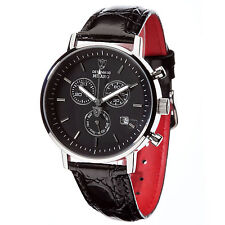 DETOMASO Milano Mens Wrist Watch Classic Chronograph Stainless Steel Silver New