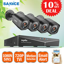 SANNCE 1080N 8CH 5in1 DVR 1500TVL CCTV Security Camera Home Surveillance System