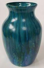 Vase Acrylic Pour Art Abstract Fluid Liquid Original Unique Glass Handmade