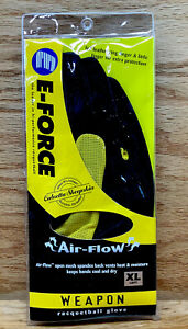 E-Force Weapon Raquetball Left Hand Glove Yellow & Black Size XL