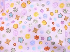 Henry Glass & Co Love To Craft by Beth Logan Cutter Fabric Pink Button 44 x 31