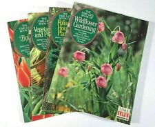 Set (4) Time Life Book Vegetables Fruits Bulbs House Plants Wildflower Gardening
