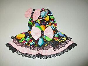S Dog dress [Birthday] cotton handcrafted