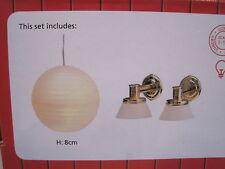 Lampen Set 3 Stück  Beleuchtung f. Puppenstuben NEU Lundby -Serie smaland