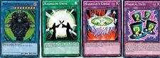 Magician of Black Chaos Ultra* + Magician's Unite + Circle + Hats (C)1st YUGIOh