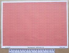 OO/HO gauge (1:76 scale) 'red/orange brick'  -  paper - A4 sheet