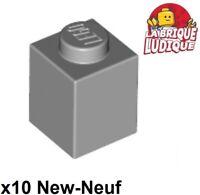 4x Brique Brick 1x3 gris//light bluish gray 3622 NEUF Lego
