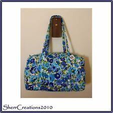 NWT Vera Bradley Small Duffel Travel Gym Bag in Blueberry Blooms #180520-284