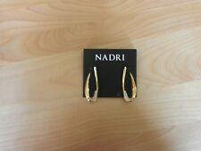 Nadri Goldtone Cubic Zirconia Loop Earrings MSRP $75