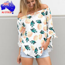 Women Ladies Sexy Tops Fashion Long Sleeve T Shirt Pineapple Printing Blouse Tee
