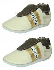 Boumy Baby Boys Shoes Crawling Real Leather Beige Brown 6+ Months